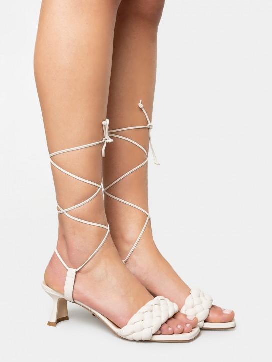 SILVIE Sandalo in pelle con lacci