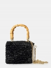CHICA Handmade Borsa crochet con manici bamboo