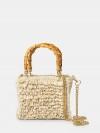 CHICA Handmade Borsa crochet con manici in bamboo